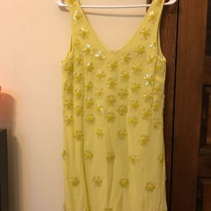 Super cute and playful yellow cocktail dress!